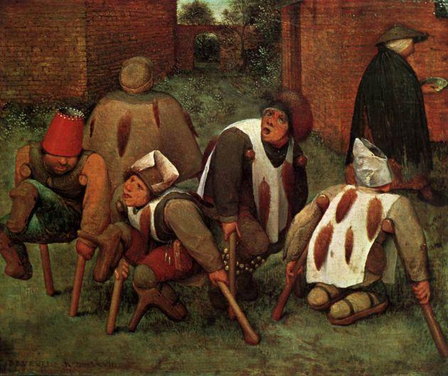 Pieter Bruegel, Les mendiants, huile sur bois, 1568, Musée du Louvre, Paris.