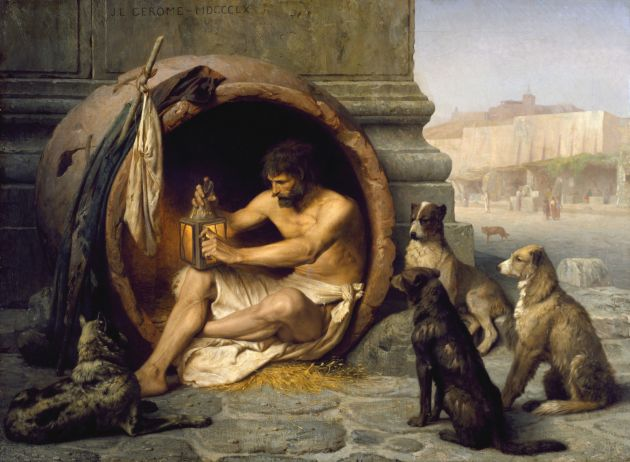 Jean-Léon Gérôme, Diogenes, 1860, huile sur toile, The Walters Art Museum, Baltimore, Maryland.