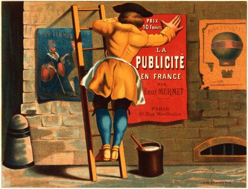 La publicité en France par Émile Mermet advertising poster ca. 1880 © CC Trialsanderrors