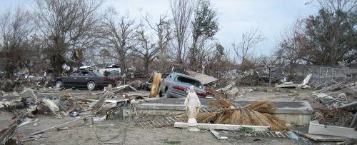 La Nouvelle-Orléans, après le passage de Katrina. Ce sont les populations précarisées qui en ont le plus pris pour leur grade. CC Infrogmation of New Orleans/Flickr.