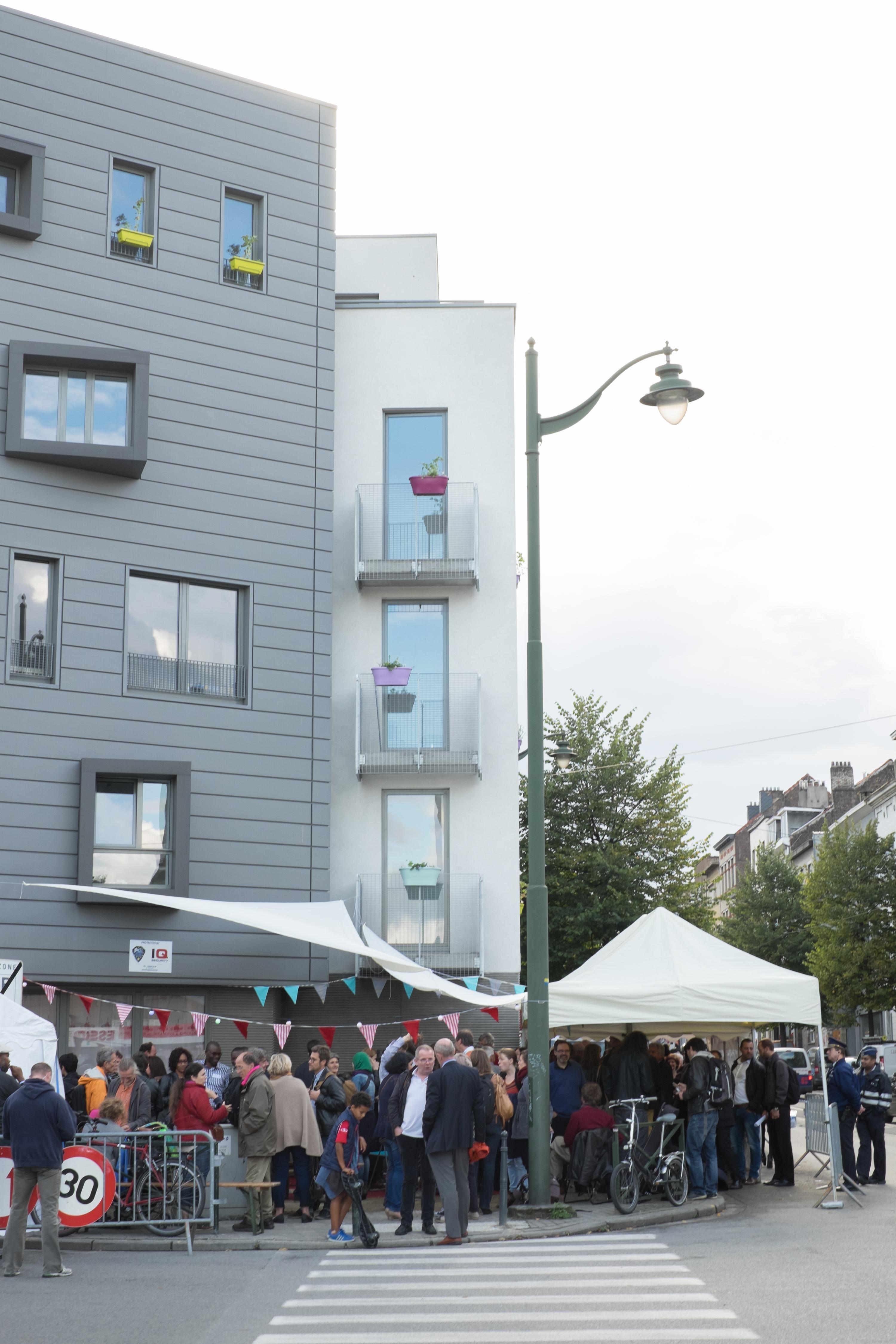 L'inauguration des premiers logements du CLT Bruxelles, quai Mariemont